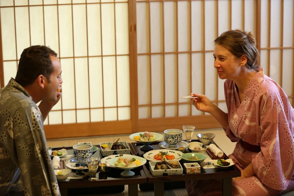 Meals at Kashiwaya Ryokan