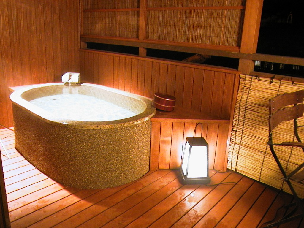 In-room Onsen bath, KAME