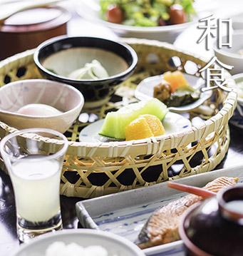 柏屋旅館の和食の朝食