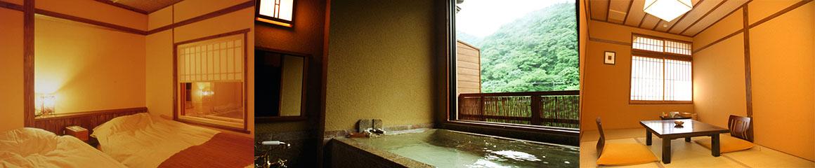 露天風呂付き客室 花の間