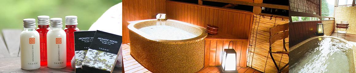掛け流しの露天風呂付き客室