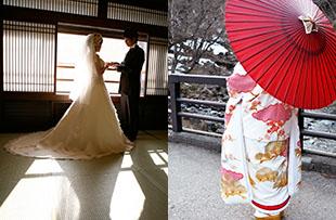 温泉旅館で和の結婚式