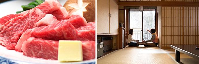バレンタインデーにオススメの赤城牛ステーキプラン