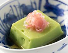グリーンピース豆腐