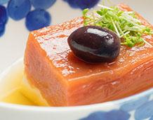 トマトの寄せ豆腐、美味出汁