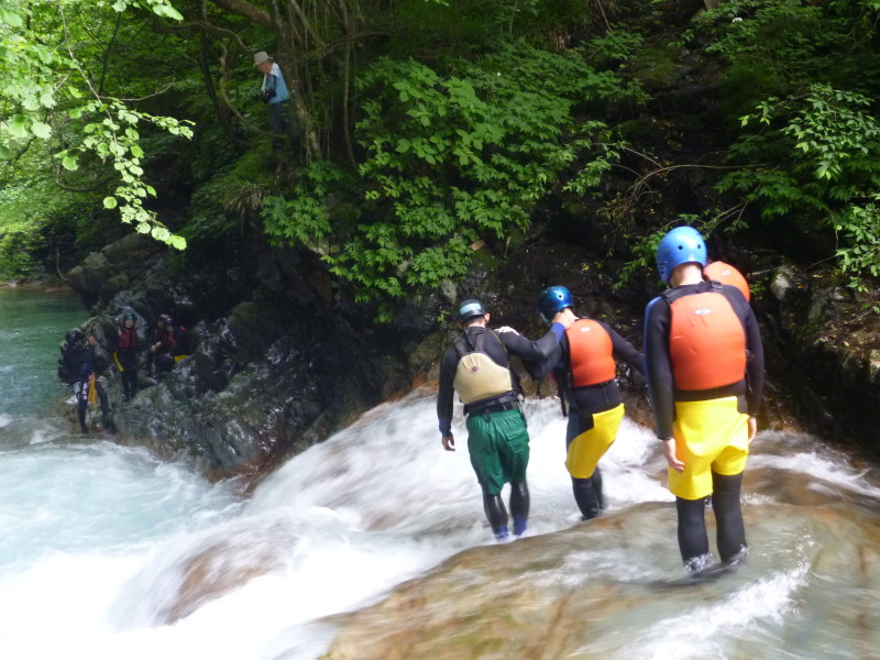 canyoning  in the Shima Blue