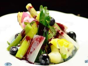 陽春の野菜たち、四万温泉の料理