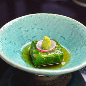 ずわい蟹青菜寄せ山葵