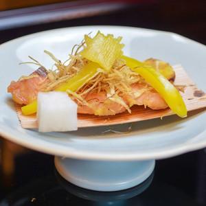 秋鮭の柚庵焼