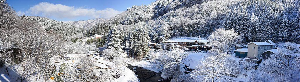 雪の日のパノラマ