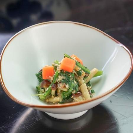 菊菜と山えのき胡麻浸し