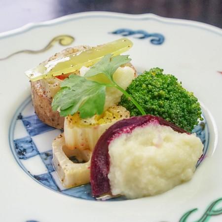 根菜たっぷり、オリーブオイル焼