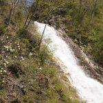しゃくなげの滝は奥四万湖のさらに奥にある滝です