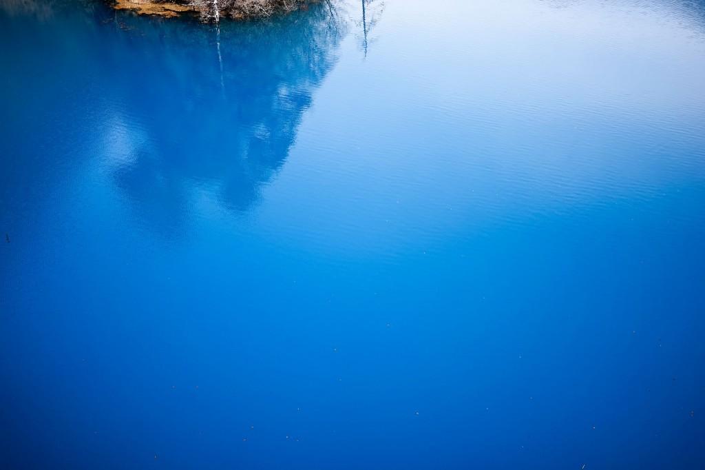 四万温泉奥四万湖のブルー