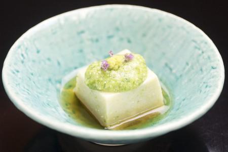 おくら胡麻豆腐