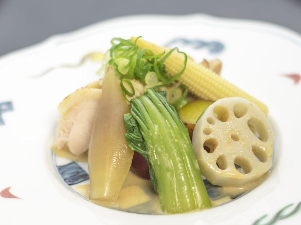 赤城鶏と夏野菜