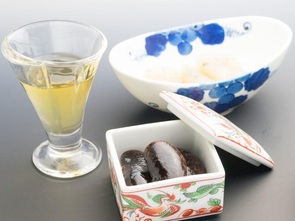梅酒、花豆、こんにゃく