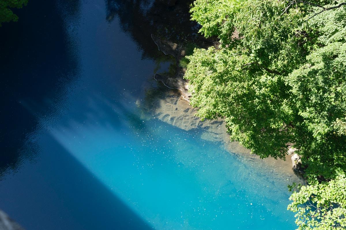 Shima blue from Shima Ohhashi bridge