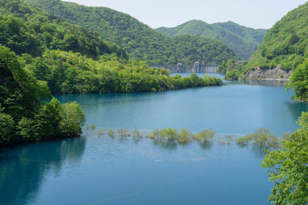奥四万湖の浮島