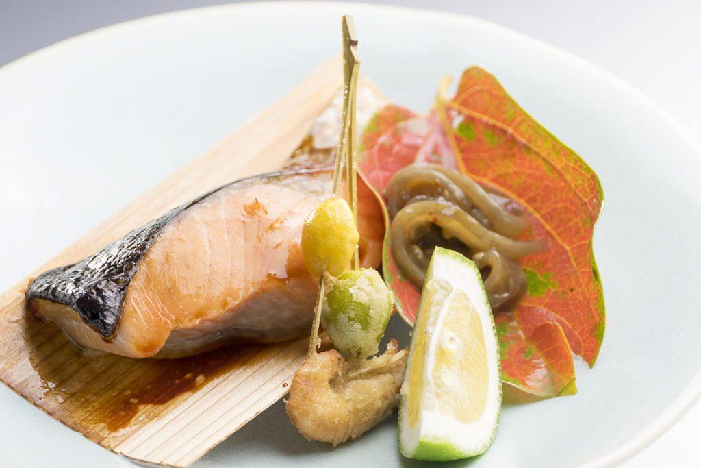 赤城鱒の味噌柚庵焼