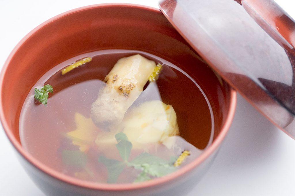 松茸と野菜真薯