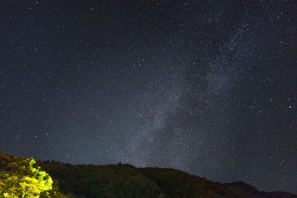 四万温泉の満天の星