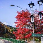 四万温泉の紅葉、四万温泉は街全体が紅葉の名所
