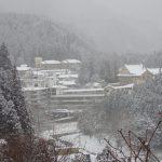 雪景色と冬遊び