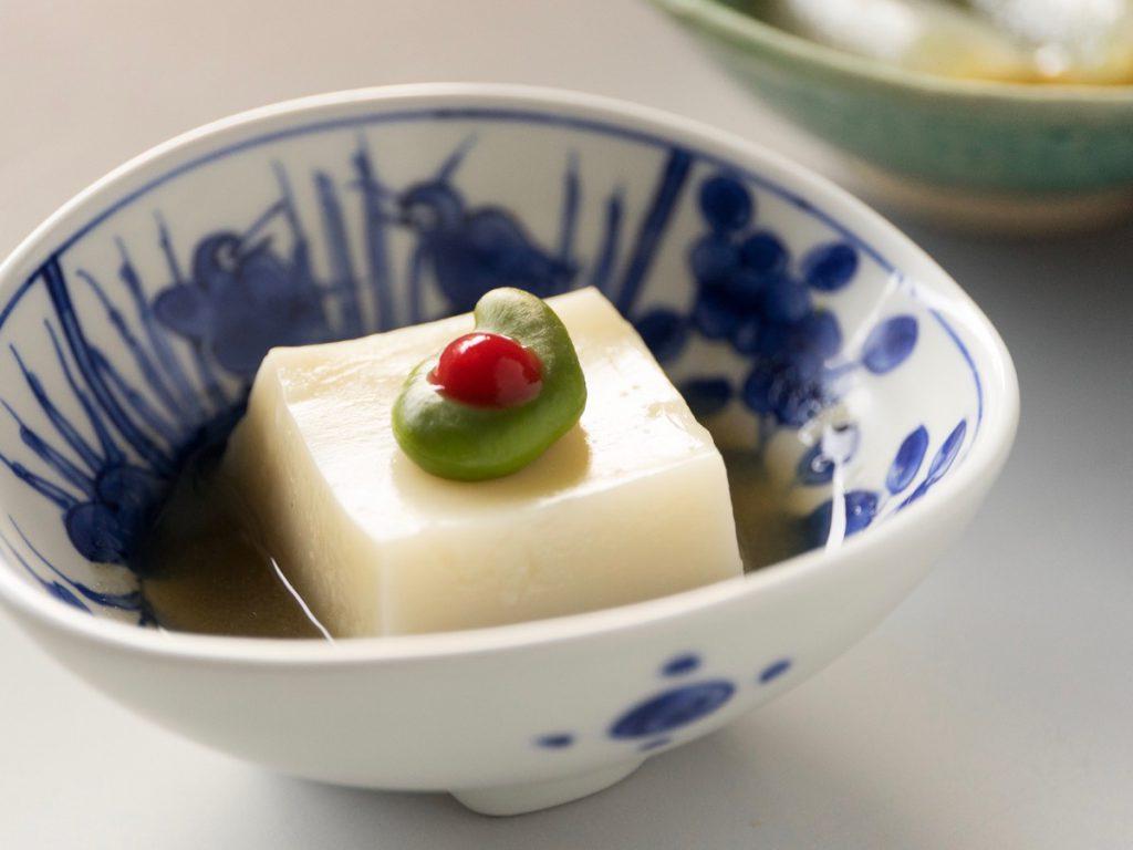 豆乳豆腐、牛蒡すり流し