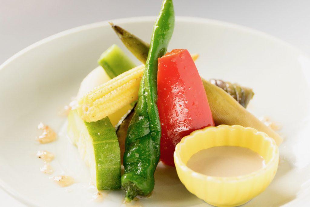 季節野菜の四万温泉グリル