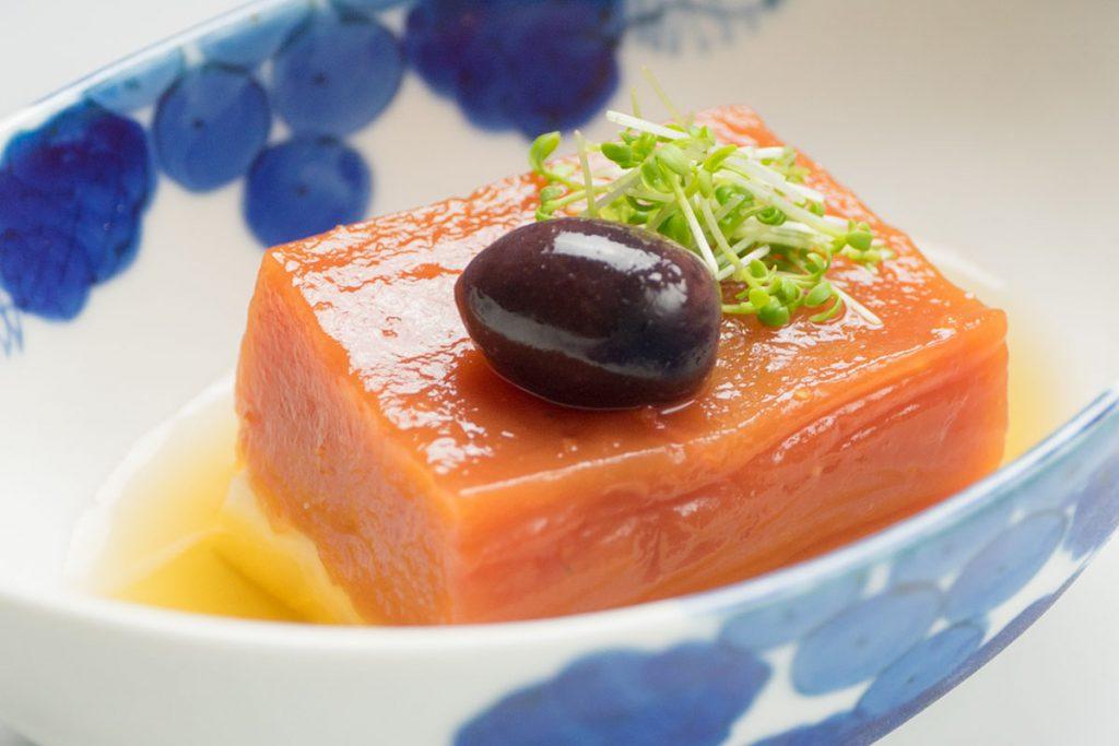 県産ブリックスナイントマト寄豆腐
