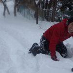 冬の楽しみ『雪板滑り』
