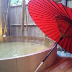 雨の日の温泉