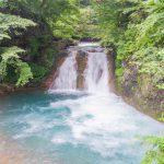 大泉の滝 キャニオニングも楽しめる日向見エリアの滝