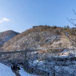 四万温泉の雪 2020、朝の雪景色をどうぞ!