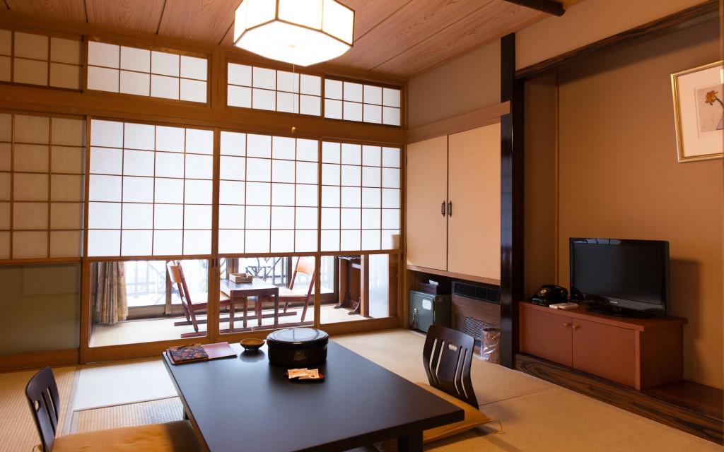 Japanese style room of Ryokan