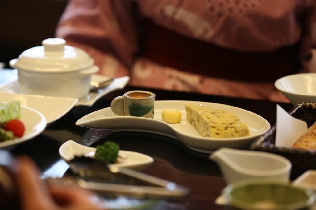 Breakfast at Kashiwaya Ryokan