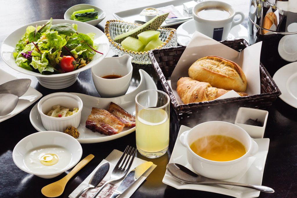 example of the western style breakfast