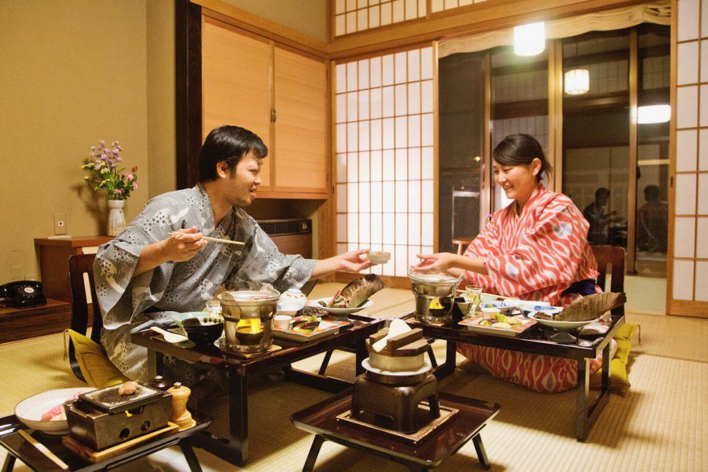 Japanese style room and Washoku