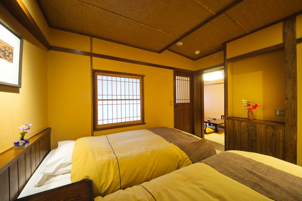 Western style bed in Ryokan