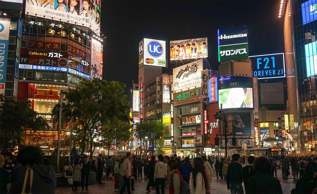 Tokyo Shibuya night