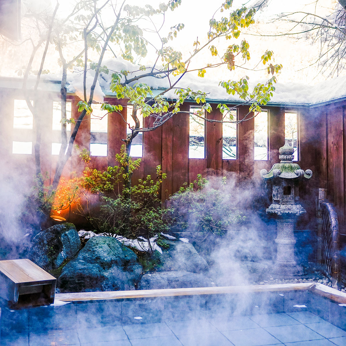 open-air Onsen