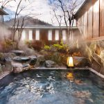 Private Onsen, room with an open-air bath / 6 different types of bath in Onsen Ryokan