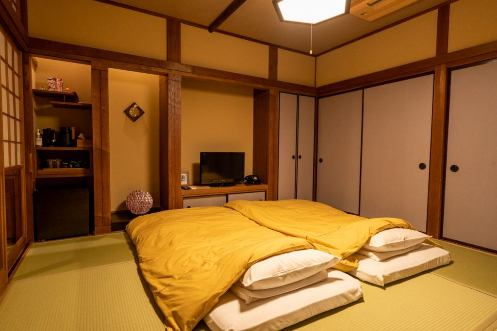 Futon on the Japanese style guest room