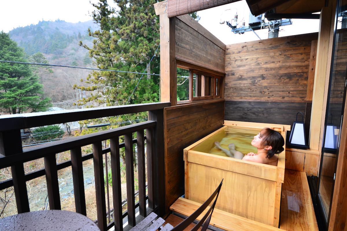 open-air onsen bath