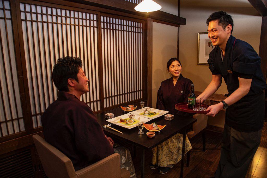 Providing dinner at dining hall
