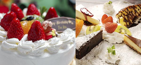 ケーキやデザートプレート