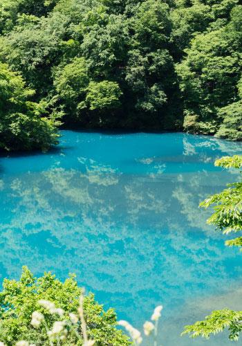 四万温泉の豊かな自然