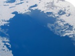凍結した奥四万湖
