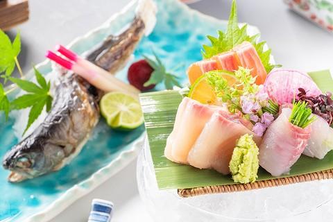 【清流の恵みプラン】渓流魚のお刺身と焼き物